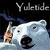 healingmirth: Coca-Cola bear with Yuletide text (yuletide)