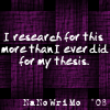 charamei: NaNoWriMo: I research more for this than I ever did for my thesis. (NaNoWriMo: I Research)