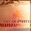 charamei: NaNoWriMo: Yay, quantity! (NaNoWriMo: Quantity)