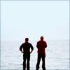 eleanorjane: Sam and G on a beach (ncisla, beach)