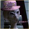 eruthros: Stargate SG1: Thor wearing a lavender church hat (SG1 - thor inna HAT)