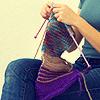 marinarusalka: knitting icon (knitting: scarf)