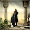tanaqui: Faramir and Eowyn comforting each other in the Houses of Healing (tolkien: houses of healing)