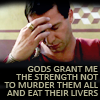 sporky_rat: Marc Antony. Text: Gods grant me the strength not to murder them all and eat their livers. (EAT THEIR LIVERS OMG!!!1111)