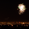 foxfirefey: A firework bursts over the Las Vegas night skyline. (yay)