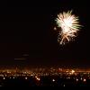 foxfirefey: A firework bursts over the Las Vegas night skyline. (yay)