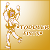 red_squared: Goku with toddler fists raised (Saiyuki -- *toddler fists*)