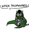 orm: doctor doom as an adorable kitten cursing adorable kitten richards (CURSE YOU: kitten doom)