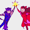orm: hawkeye and the scarlet witch high-fivin' (HIGH FIIIIVE: clint & wanda)
