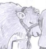bronze_ribbons: drawing of a contented bull (cow)