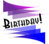 "onyxlynx: Festive pennants in blue & purple with word ""Birthday"" centered. (Birthday)"