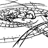 roadrunnertwice: Young Marcie Grosvenor from Finder, asleep in a ward drawn from Finder trails. (Finder.Marcie - Wardings)