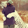 "orm: 02:05:38 twilightinviolet: Then it rubs the person's head with its paw and says ""HANG IN THERE, KID"" (HUG: this tiger is hugging a person)"