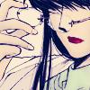 sakanagi: Tokiko taking off her glasses (X - Tokiko)