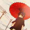 kylara: Sasuke holding a red parasol (Sasuke red parasol)