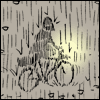 roadrunnertwice: Yehuda biking in the rain. (Bike - Rain (Yehuda Moon))
