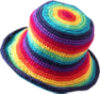 beccaelizabeth: Hat made of rainbows (rainbow hat)