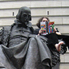shinyhappygoth: photo of me reading Understanding Comics on Shakespeare's lap, http://www.flickr.com/photos/rabbitdance/3066976113/ (Shakespeare)
