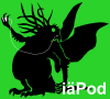 mithriltabby: Cthulhu silhouette in style of iPod adverts (iäPod)