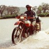 moem: Me, riding my bike through a river. (motor in wadi)