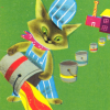 moem: Cat tipping a paint can (kladderkatje)