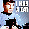 epiphanyx7: Spock: Has a Cat. (My Spock Icon)