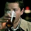 alchemise: Castiel drinking beer (SPN: BEER)