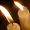 altars_and_shrines: taper candles (flames)