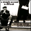 labellementeuse: greyscale icon of a man sitting on steps with text: 'a straight account is difficult/so let me define seven wishes' (misc let me define seven wishes)