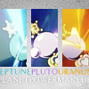 mireia: The transformation wands of Sailors Uranus, Neptune, and Pluto activating. (Sailor Moon - Outers Make Up!)