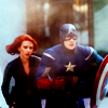 lovelythings: Natasha and Steve from the Avengers walking (that girl is the gun to my holster)
