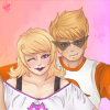 alymira: Dirk taking a self-shot of himself and Roxy. (Default)