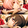 mireia: Homura and Madoka from Madoka Magica lying on the ground, gravely injured, and looking into each other's eyes. (PMMM - Is this the end? (HomuMado))