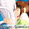 flamebyrd: Chihiro and Haku, from Spirited Away (Dragon smoochies, grateful)