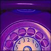 distractionary: purple rotary telephone (sends you laughing without smiling)