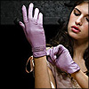 distractionary: brown-haired woman adjusting lavender gloves (pic#36217)
