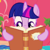 rhosyn_du: (twilight sparkle ~ I <3 books)