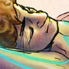 infiniteviking: Fanart of Ram from the movie Tron, fast asleep with a contented expression. (14)
