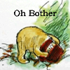 "susanreads: Pooh with his head stuck in a honeypot, ""Oh Bother"" (oh bother)"