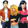 susanreads: David, Katchoo and Francine from Strangers in Paradise (comics)