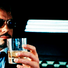 walkingshadow: tony stark gets his drink on (where's the kid with the chemicals)