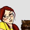 unavoidedcrisis: cartoon me and cartoon mclovin (fangirl leen with mclovin)