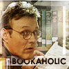 "rhi: Rupert Giles in his natural habitat:  a library.  ""Bookaholic."" (bookaholic)"