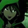 inkstone: Michiko e Hatchin's Michiko in a green hoodie & sticking her tongue out (:P)