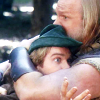 thingswithwings: Robin of Loxley and Little John HUG! (men in tights - hugs! ooof!)