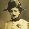starlady: A woman in a sepia photograph wearing a military uniform (fight like a girl)