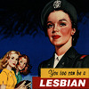 sasha_feather: Retro-style poster of women who aspire to lesbianism (you too can be a lesbian)
