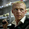 sasha_feather: Simon Pegg from Hot Fuzz holding a gun looking tough (hot fuzz)