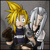 "megpie71: Cloud Strife says ""Meep"" (Seph 3, I'm sure that's not regulation, Meep, Cloud 1, Excuse me sir)"