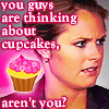 "ext_108: Jules from Psych saying ""You guys are thinking about cupcakes, aren't you?"" (random: halfamoon uhura & tara)"